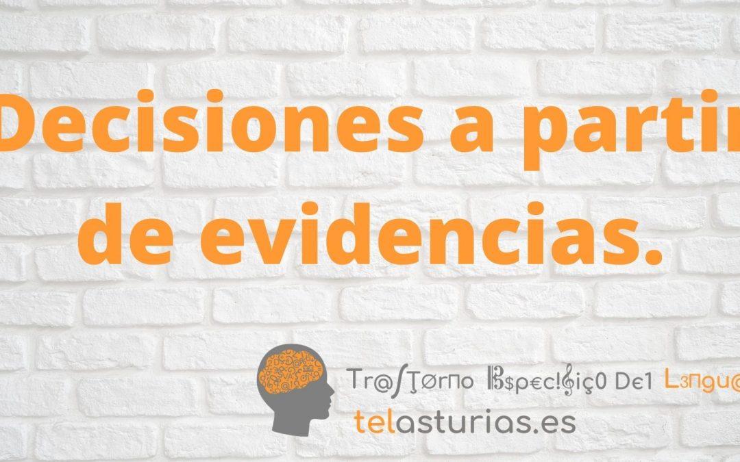 Decisiones a partir de evidencias.